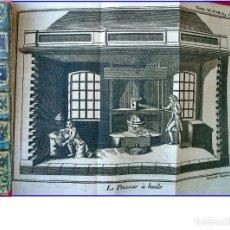 Libros antiguos: AÑO 1768: LIBRO DEL XVIII CON DESPLEGABLES DE OFICIOS DE LA ÉPOCA: FUNDICIÓN PLOMO, ACEITE, CERA.... Lote 173043205