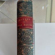 Libros antiguos: ANTIGUO LIBRO OEUVRES DE JEAN RACINE VER FOTOS ESTADO IDIOMA FRANCÉS. Lote 173051143