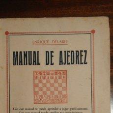 Libros antiguos: MANUAL DE AJEDREZ (1931). Lote 173078507
