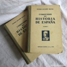 Libros antiguos: COMPENDIO DE HISTORIA DE ESPAÑA, PEDRO AGUADO BLEYE, ESPASA CALPE 1932, DOS TOMOS. Lote 173150182