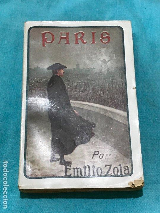 Libros antiguos: PARÍS. EMILIO ZOLA (2 TOMOS-MAUCCI ca.1910) - Foto 2 - 173273742