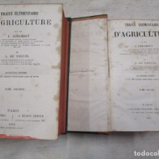 Libros antiguos: AGRICULTURA - TRAITE ELEMENTAIRE D'AGRICULTURE - J. GIRARDIN Y VV.AA, PARIS 1885 2 VOLS + INFO 1S. Lote 173409975