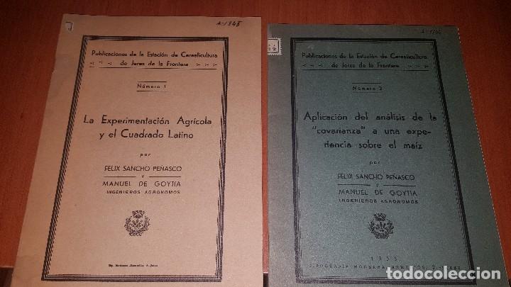 2 PUBLICACIONES DE LA ESTACION DE CEREALICULTURA DE JEREZ DE LA FRONTERA, N° 1 Y N° 2, 1935 (Libros Antiguos, Raros y Curiosos - Ciencias, Manuales y Oficios - Otros)