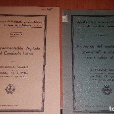 Libros antiguos: 2 PUBLICACIONES DE LA ESTACION DE CEREALICULTURA DE JEREZ DE LA FRONTERA, N° 1 Y N° 2, 1935. Lote 173576167
