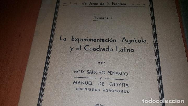 Libros antiguos: 2 publicaciones de la estacion de cerealicultura de jerez de la frontera, n° 1 y n° 2, 1935 - Foto 2 - 173576167