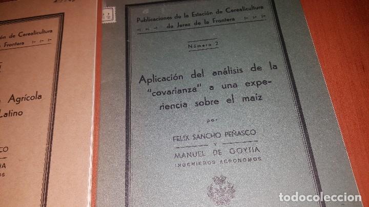 Libros antiguos: 2 publicaciones de la estacion de cerealicultura de jerez de la frontera, n° 1 y n° 2, 1935 - Foto 3 - 173576167