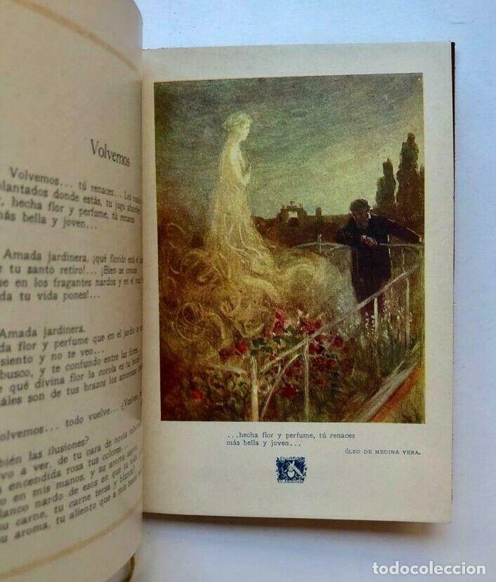Libros antiguos: Vicente Medina - La compañera - El castillo encantado - Poema intimo 1921 MURCIA - Foto 2 - 173675040