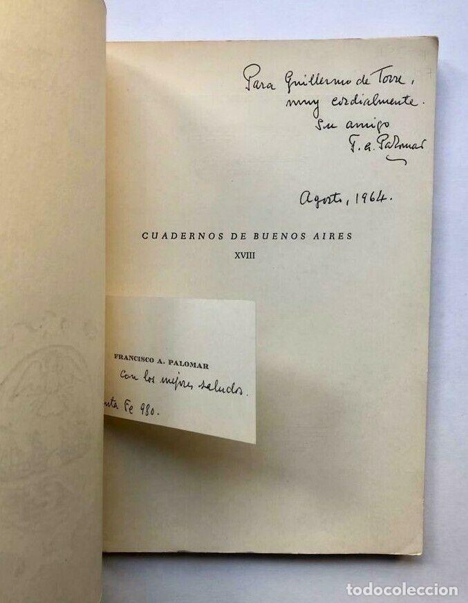 Libros antiguos: Francisco A. PALOMAR - Primeros Salones de Arte en Buenos Aires - Firmado SIGNED - Foto 2 - 173676244