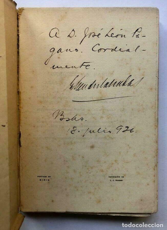 Libros antiguos: Enrique MENDEZ CALZADA - Y Volvió Jesús a Buenos Aires: Cuentos - 1926 SIGNED - Foto 2 - 173676273
