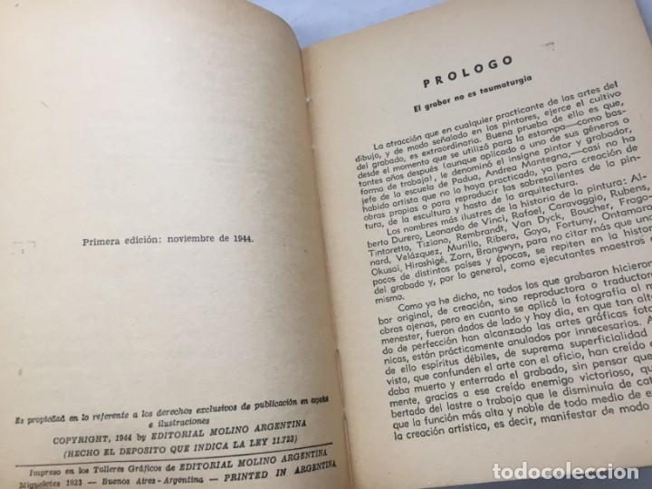 Libros antiguos: Técnicas del grabado artístico Tomás Gutiérrez Larraya 1944 buril Manuales Molina Buenos Aires - Foto 4 - 173821089