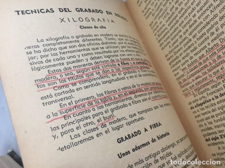 Libros antiguos: Técnicas del grabado artístico Tomás Gutiérrez Larraya 1944 buril Manuales Molina Buenos Aires - Foto 11 - 173821089