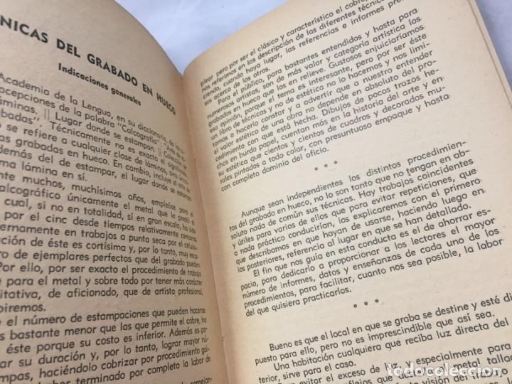 Libros antiguos: Técnicas del grabado artístico Tomás Gutiérrez Larraya 1944 buril Manuales Molina Buenos Aires - Foto 13 - 173821089