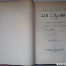 Libros antiguos: CLASE DE MAQUINAS UHAGON, RECAREDO MADRID 1895 FORTANET. Lote 173825360
