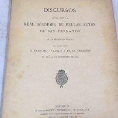 Libros antiguos: DISCURSO FRANCISCO SILVELA ACADEMIA BELLAS ARTES SAN FERNANDO 1904. Lote 173827895