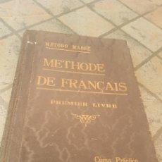 Libros antiguos: METHODE DE FRANCOIS 1ER LIBRE CURSO PRÁCTICO MÉTODO MÁS EH. Lote 173847529
