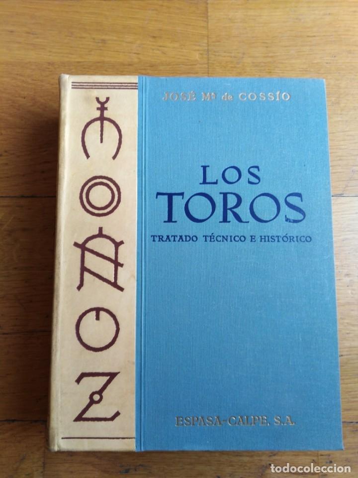 LOS TOROS TRATADO TÉCNICO E HISTÓRICO COSSIO (Libros Antiguos, Raros y Curiosos - Bellas artes, ocio y coleccionismo - Otros)