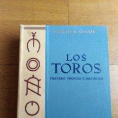 Libros antiguos: LOS TOROS TRATADO TÉCNICO E HISTÓRICO COSSIO. Lote 173981329