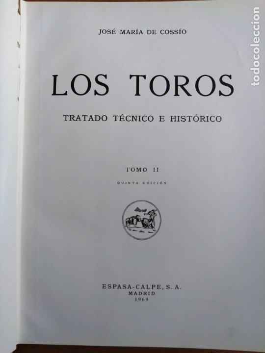 Libros antiguos: Los Toros tratado técnico e histórico Cossio - Foto 4 - 173981329