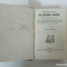 Libros antiguos: NOVISIMO ESTILO DE ESCRIBIR CARTAS, SOBRE CUALQUIERA CLASE DE ASUNTOS - IMPRENTA JOSÉ GASPAR - 1856. Lote 174056827