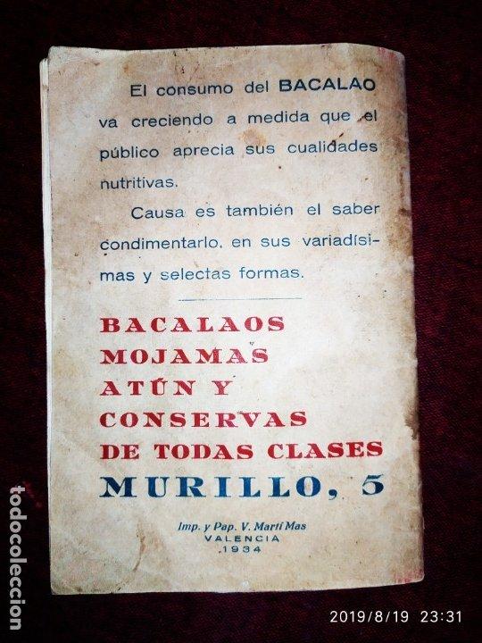 Libros antiguos: ANTIGUO LIBRO RECETAS BACALAO RIDAURA SALAZONES DELEGACION DEL CONSORCIO NACIONAL ALMADRABERO 1934 - Foto 2 - 174106393