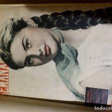 Libros antiguos: REVISTA SEMANA ENCUADERNADA COMPLETA DE FEBRERO DE 1953 A MARZO DE 1954. Lote 174106542