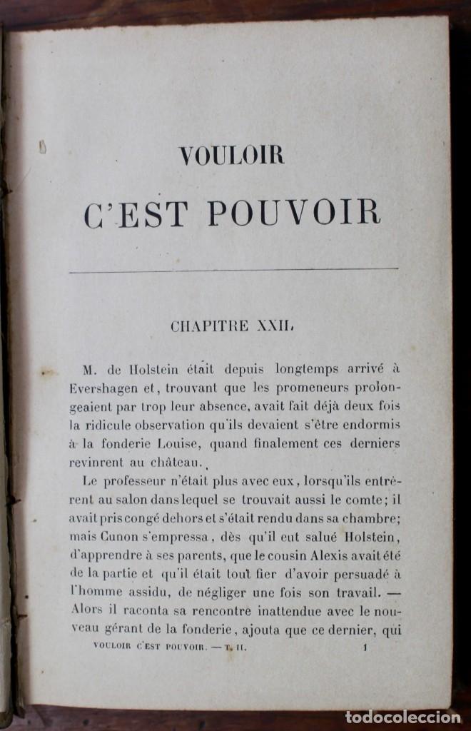 Libros antiguos: VOULOIR, C'EST POUVOIR- ELLY REUSS- TOME SECOND-PARIS-1891 - Foto 5 - 174156007