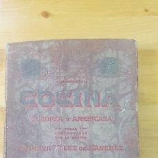 Libros antiguos: COCINA EUROPEA Y AMERICANA.. Lote 174167478