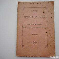 Libros antiguos: BARTOLOME BEATO ELEMENTOS DE TEODICEA Y ANTROPOLOGÍA Y95688 . Lote 174227284