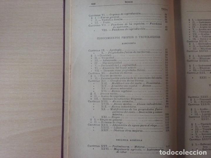 Libros antiguos: NOCIONES DE AGRICULTURA Y TÉCNICA AGRÍCOLA (1922) - DOCTOR MARIANO TORTOSA Y PICÓN - Foto 5 - 174233785