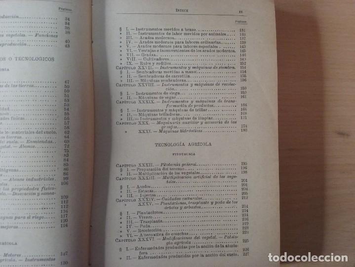 Libros antiguos: NOCIONES DE AGRICULTURA Y TÉCNICA AGRÍCOLA (1922) - DOCTOR MARIANO TORTOSA Y PICÓN - Foto 6 - 174233785