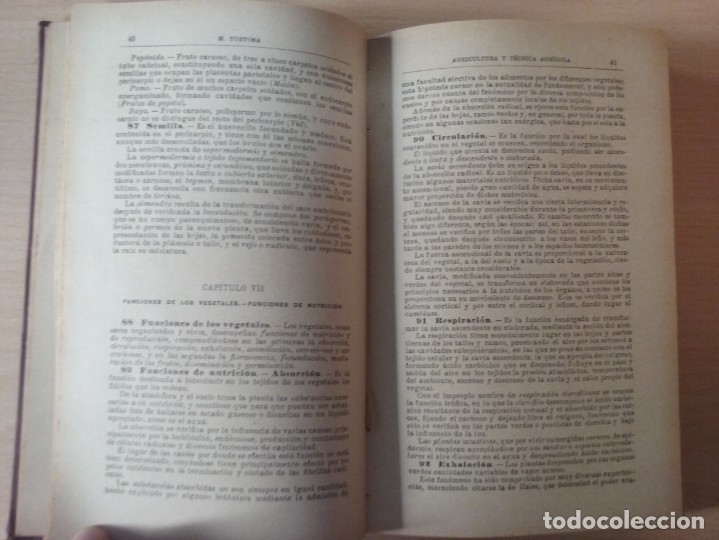 Libros antiguos: NOCIONES DE AGRICULTURA Y TÉCNICA AGRÍCOLA (1922) - DOCTOR MARIANO TORTOSA Y PICÓN - Foto 11 - 174233785