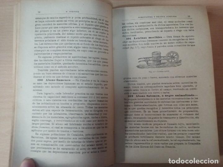 Libros antiguos: NOCIONES DE AGRICULTURA Y TÉCNICA AGRÍCOLA (1922) - DOCTOR MARIANO TORTOSA Y PICÓN - Foto 14 - 174233785
