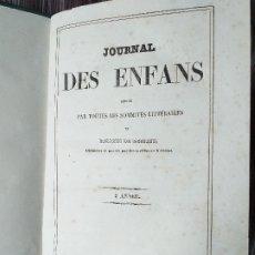 Libros antiguos: REVISTA JOURNAL DES ENFANTS 1840 ENCUADERNADO GRABADOS . Lote 174251334