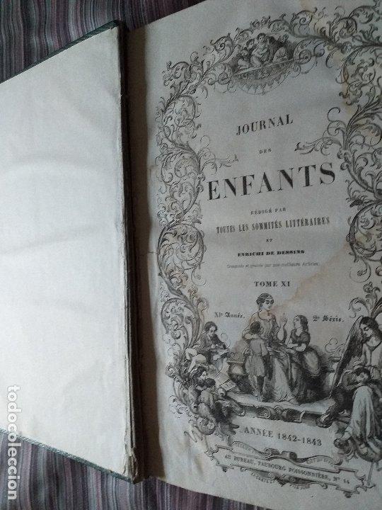 REVISTA JOURNAL DES ENFANTS 1842-43 ENCUADERNADO GRABADOS (Libros Antiguos, Raros y Curiosos - Literatura Infantil y Juvenil - Otros)