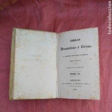 Libros antiguos: OBRAS DRAMÁTICAS Y LÍRICAS DE LEANDRO FERNÁNDEZ DE MORATIN.1834.. Lote 174320273