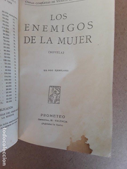 Libros antiguos: Los enemigos de la mujer,v. blasco ibañez,1919 - Foto 5 - 174324032