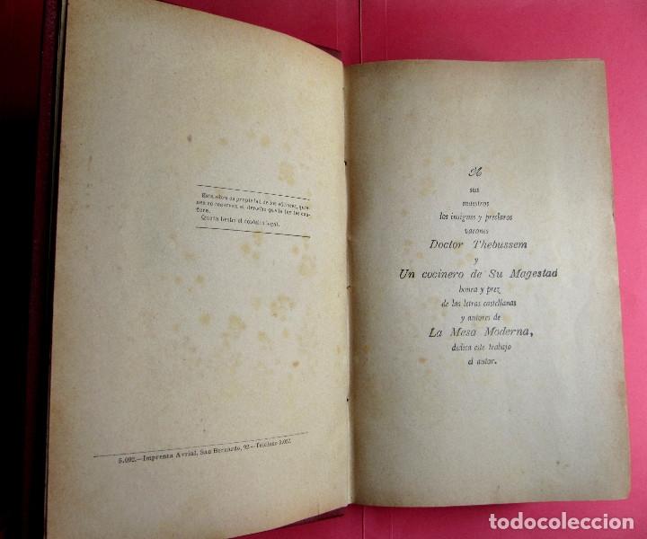 Libros antiguos: EL PRACTICÓN. TRATADO COMPLETO DE COCINA AL ALCANCE DE TODOS. POR ÁNGEL MURO. MADRID, 1902. - Foto 5 - 174400565