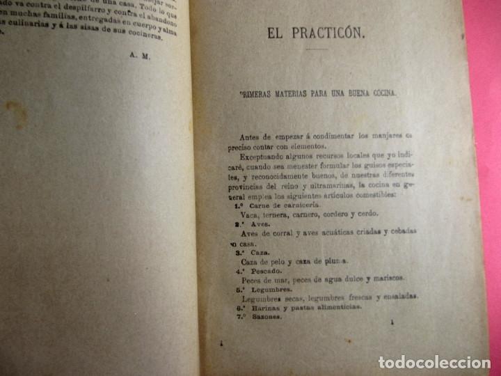 Libros antiguos: EL PRACTICÓN. TRATADO COMPLETO DE COCINA AL ALCANCE DE TODOS. POR ÁNGEL MURO. MADRID, 1902. - Foto 6 - 174400565