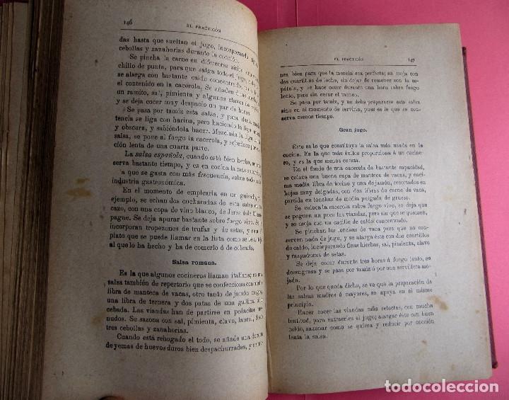 Libros antiguos: EL PRACTICÓN. TRATADO COMPLETO DE COCINA AL ALCANCE DE TODOS. POR ÁNGEL MURO. MADRID, 1902. - Foto 7 - 174400565