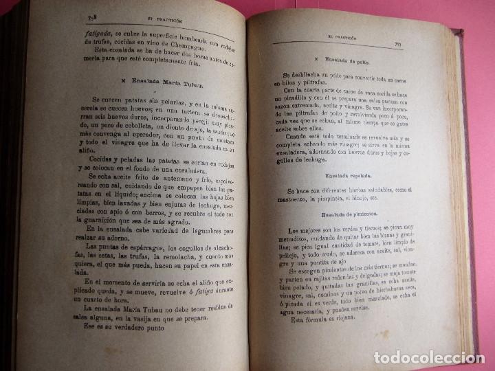 Libros antiguos: EL PRACTICÓN. TRATADO COMPLETO DE COCINA AL ALCANCE DE TODOS. POR ÁNGEL MURO. MADRID, 1902. - Foto 8 - 174400565