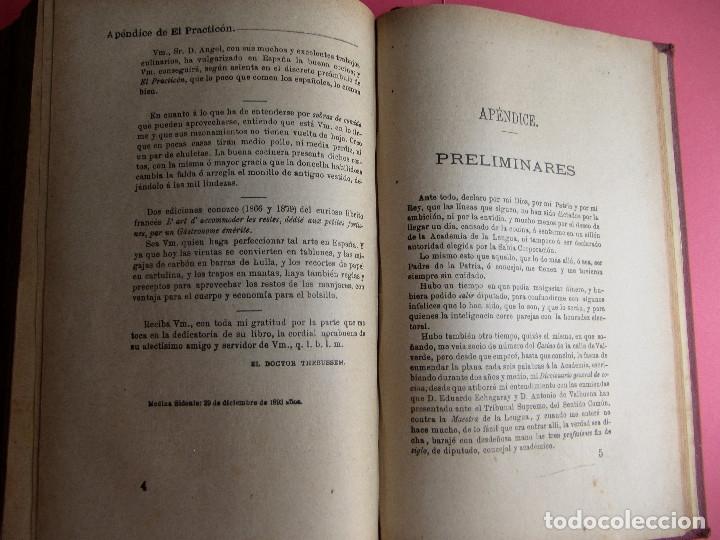 Libros antiguos: EL PRACTICÓN. TRATADO COMPLETO DE COCINA AL ALCANCE DE TODOS. POR ÁNGEL MURO. MADRID, 1902. - Foto 12 - 174400565