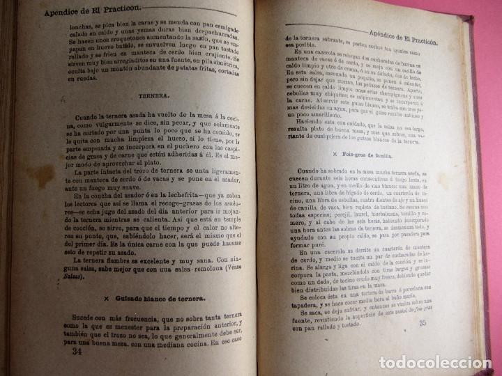 Libros antiguos: EL PRACTICÓN. TRATADO COMPLETO DE COCINA AL ALCANCE DE TODOS. POR ÁNGEL MURO. MADRID, 1902. - Foto 15 - 174400565