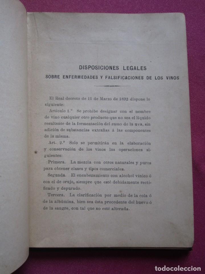 Libros antiguos: TRATADO DE ENOLOGIA PRACTICA VITICULTURA A.HUBERT AÑO 1908. - Foto 5 - 174462923