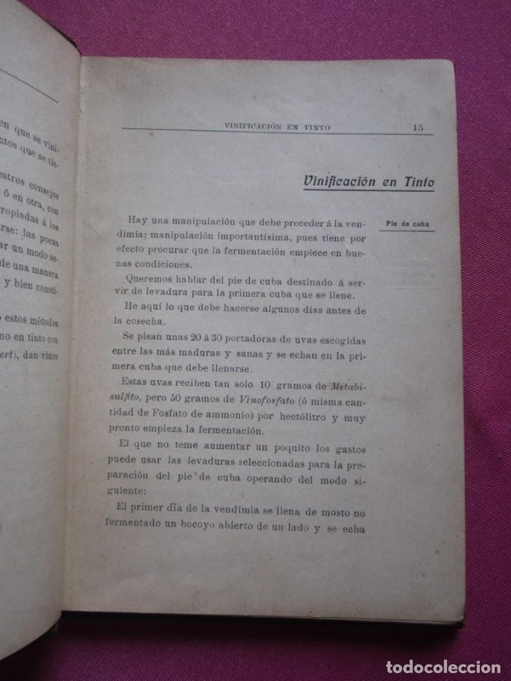 Libros antiguos: TRATADO DE ENOLOGIA PRACTICA VITICULTURA A.HUBERT AÑO 1908. - Foto 6 - 174462923