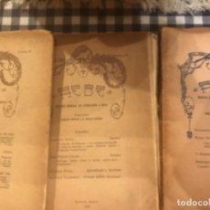 Libros antiguos: HEBE 1918 REVISTA MENSUAL DE LITERATURA Y ARTE. Lote 174468734