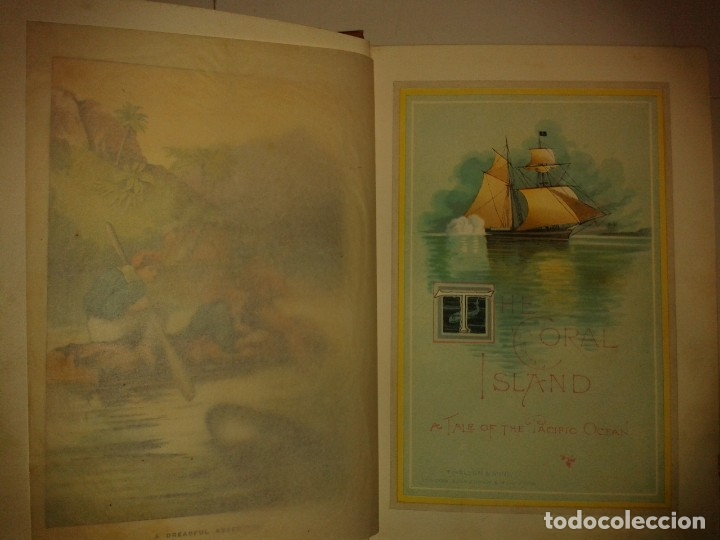 Libros antiguos: THE CORAL ISLAND A TALE OF THE PACIFIC OCEAN 1897 R. M. BALLANTYNES NEW EDITION NELSON AND SONS - Foto 3 - 174480660