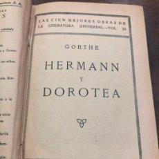 Libros antiguos: LIBRO GOETHE HERMANN Y DOROTEA - 140 PAG. Lote 174502873