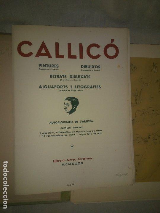 Libros antiguos: CALLICO CARPETA EDICIO NUMERADA ESCOLES OFICIALS - AÑO 1935 - EXCEPCIONAL. - Foto 3 - 174511303