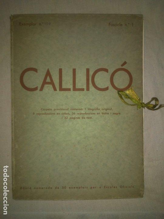 CALLICO CARPETA EDICIO NUMERADA ESCOLES OFICIALS - AÑO 1935 - EXCEPCIONAL. (Libros Antiguos, Raros y Curiosos - Bellas artes, ocio y coleccionismo - Otros)