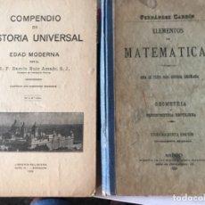 Libros antiguos: COMPENDIO DE HISTORIA UNIVERSAL Y ELEMENTOS DE MATEMÁTICAS . Lote 174518612